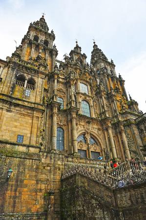 jacobean: The cathedral of Santiago de Compostela, way of Santiago, Spain Stock Photo