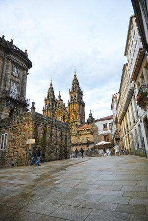 jacobean: The cathedral of Santiago de Compostela, Galicia, Spain