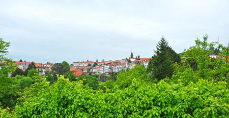 compostela: Panoramic view of Santiago de Compostela under clouds, Galicia, Spain