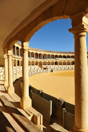 ronda: Bullring in Ronda, Malaga Province, Spain Stock Photo