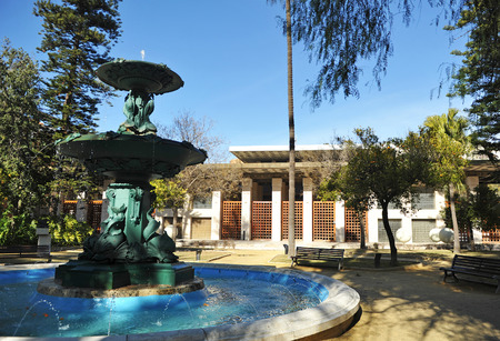 casa colon: Gardens in the palace of congresses of Huelva, Casa Colon, Andalusia, Spain