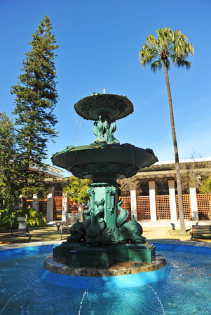 casa colon: Ornamental fountain, Congress and Exhibition Palace of Huelva, Casa Colon, Andalusia, Spain