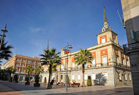 city hall: Constitution Square, City Hall, Huelva, Andalusia, Spain Editorial