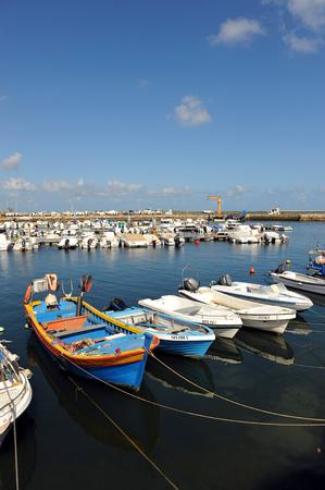 algarve: Fishing port of Olhao, Algarve, southern Portugal