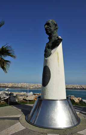 busts: Monument to Don Juan de Borbon in Marbella, Malaga province, Spain