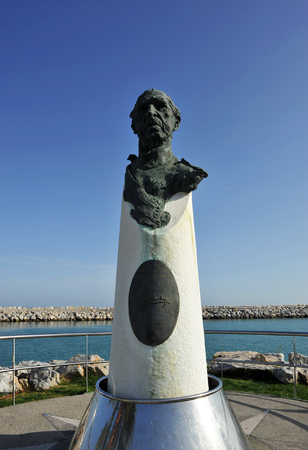 busts: Monument to Don Juan de Borbon in Marbella, Puerto Banus, Malaga province, Spain Editorial