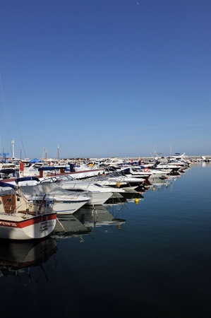 literas: barcos deportivos, Puerto Banús, Marbella, Costa del Sol, Málaga, España
