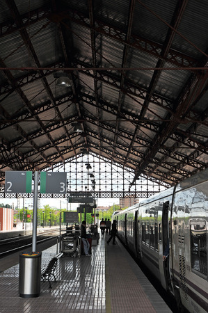 campo: Medina del Campo train station, province of Valladolid, Spain