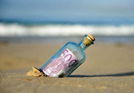 500 euro banknote in a bottle found on the beach