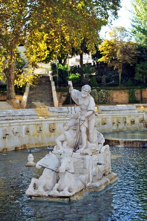 king neptune: Neptune, King Fountain, Fuente del Rey, Priego de Cordoba, Andalusia, Spain