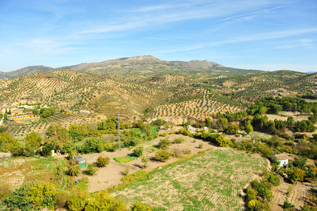 king neptune: Landscape of the Natural Park of Subbetica, Priego de Cordoba, Andalusia, Spain