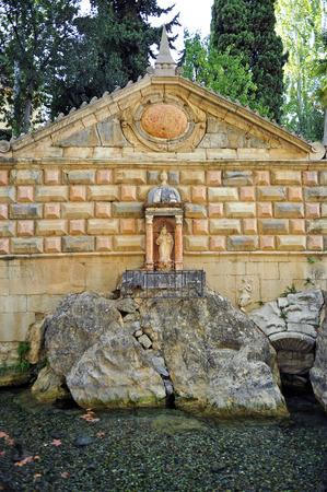 king neptune: Fountain of health, Fuente de la Salud, Priego de Cordoba, Andalusia, Spain