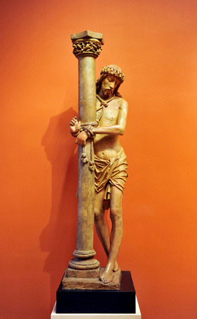 millan: Christ tied to the Column, Seville, Spain Editorial