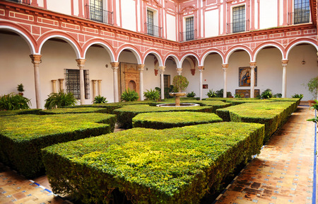 fine arts: Courtyard of the boxwood, Museum of Fine Arts in Seville, Andalusia, Spain