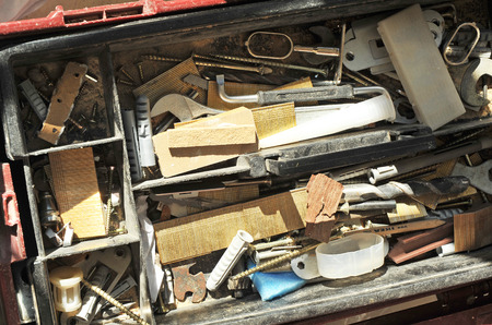 disorderly: Disorderly tools, toolbox carpenter