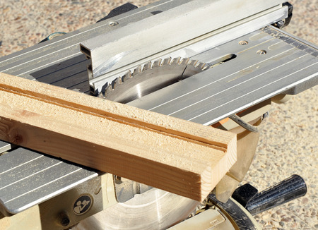 miter: Professional woodworking tool, disk saw