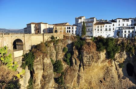 nuevo: Monumental view of the Puente Nuevo, Tajo de Ronda, in the province of Malaga, Andalusia, Spain Stock Photo