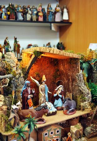 sacra famiglia: Sacra Famiglia, Mercatino di Natale, Betlemme Archivio Fotografico