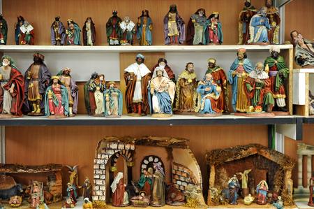 drover: Figures of Bethlehem, Christmas market Stock Photo