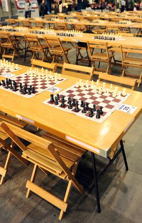 matches: Partidas de ajedrez simult�neas Foto de archivo