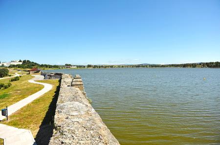 steelyard: Roman reservoir of Proserpina, Merida, province of Badajoz, Spain