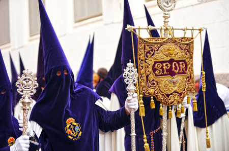 brotherhood: Nazarenos, Semana Santa de Sevilla, hermandad de la esperanza, Andalucía, España