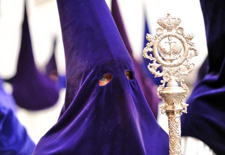 fraternidad: Nazareno, Semana Santa de Sevilla, hermandad de la esperanza, Andaluc�a, Espa�a