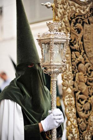 brotherhood: Nazarene, Easter Week in Seville, brotherhood of hope, Andalusia, Spain