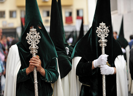 holy week in seville: Holy Week in Seville, Religious procession in Triana, Andalusia, Spain