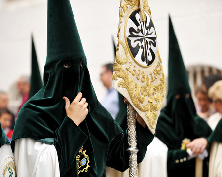 holy week in seville: Easter Week in Seville, brotherhood of hope, Triana, Andalusia, Spain