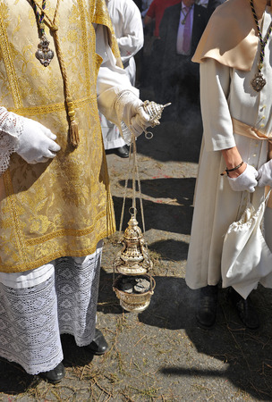 procession: Incense burner, religious procession, Seville, Spain