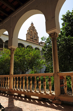 catholic nuns: Convent of Saint Agnes, the cloister, Seville, Andalusia, Spain Editorial