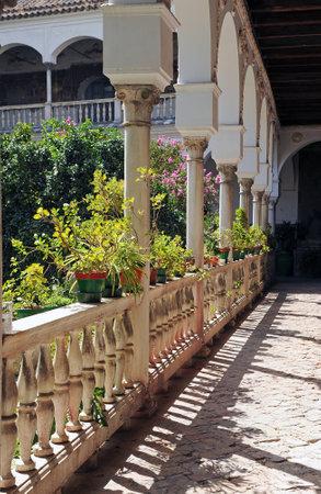 herbolaria: Convento de Santa Inés, galería del claustro, Sevilla, Andalucía, España