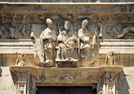 ferdinand: Town Hall in Seville, Saint Ferdinand, Saint Isidore and Saint Leandro, Spain