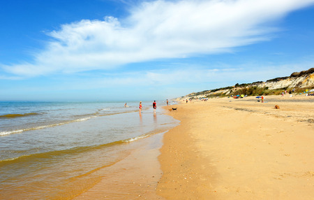 Beach of Mazagon, Costa de la Luz, Huelva province, Spain Фото со стока