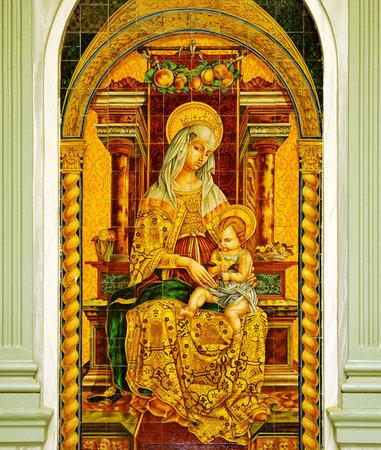 episcopal: Virgin Mary, Episcopal palace, Ciudad Real, Castilla la Mancha, Spain Editorial