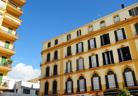 merced: Merced square, birthplace of Picasso, Malaga, Andalusia, Spain Editorial