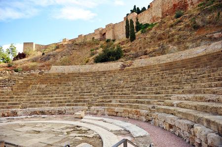 alcazaba: Roman Theatre and Alcazaba, Malaga, Andalusia, Spain