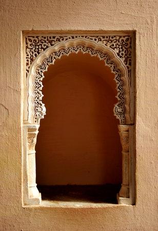 plasterwork: Moorish taca, plasterwork in the Alcazaba in Málaga, Andalusia, Spain