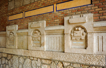 private domain: Stone mailboxes