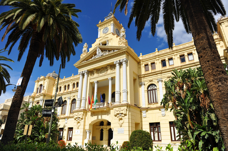 city hall: City Hall of Malaga, Andalusia, Spain Editorial