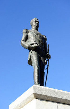 the liberator: General San Martin, liberator of Argentina, Chile and Peru.