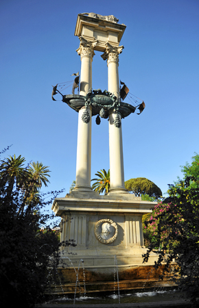 Monument to Christopher Columbus, Murillo Gardens, Sevilla, Spain