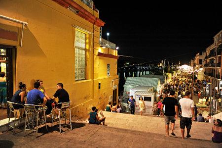 Nuit juste de Triana, appelé La Vela, Séville, Andalousie, Espagne, Europe Banque d'images - 49732225
