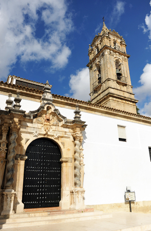 assumption: The Church of the Assumption, province of Cabra, Crdoba, Andalusia, Spain Stock Photo