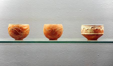 terra: Roman pottery, terra sigillata Stock Photo