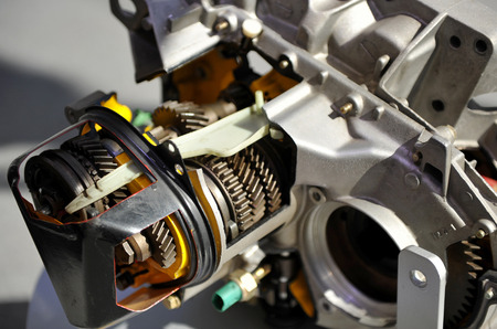 explosion engine: Closeup of a section of a car engine, explosion engine
