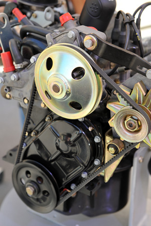 explosion engine: Section of a car engine, explosion engine Stock Photo