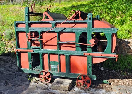agricultural machinery: Agricultural machinery, old thresher
