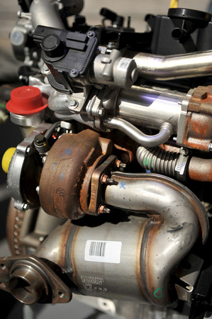 explosion engine: Detail of a car engine, explosion engine